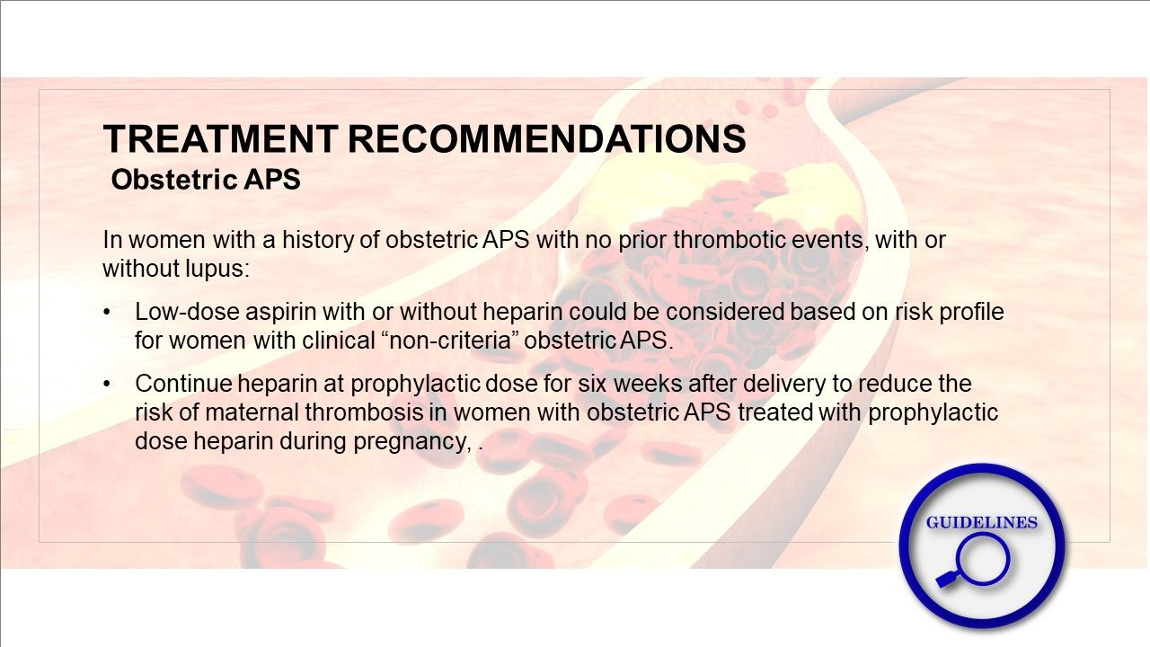New Treatment Guidelines for Blood Clotting Disorder