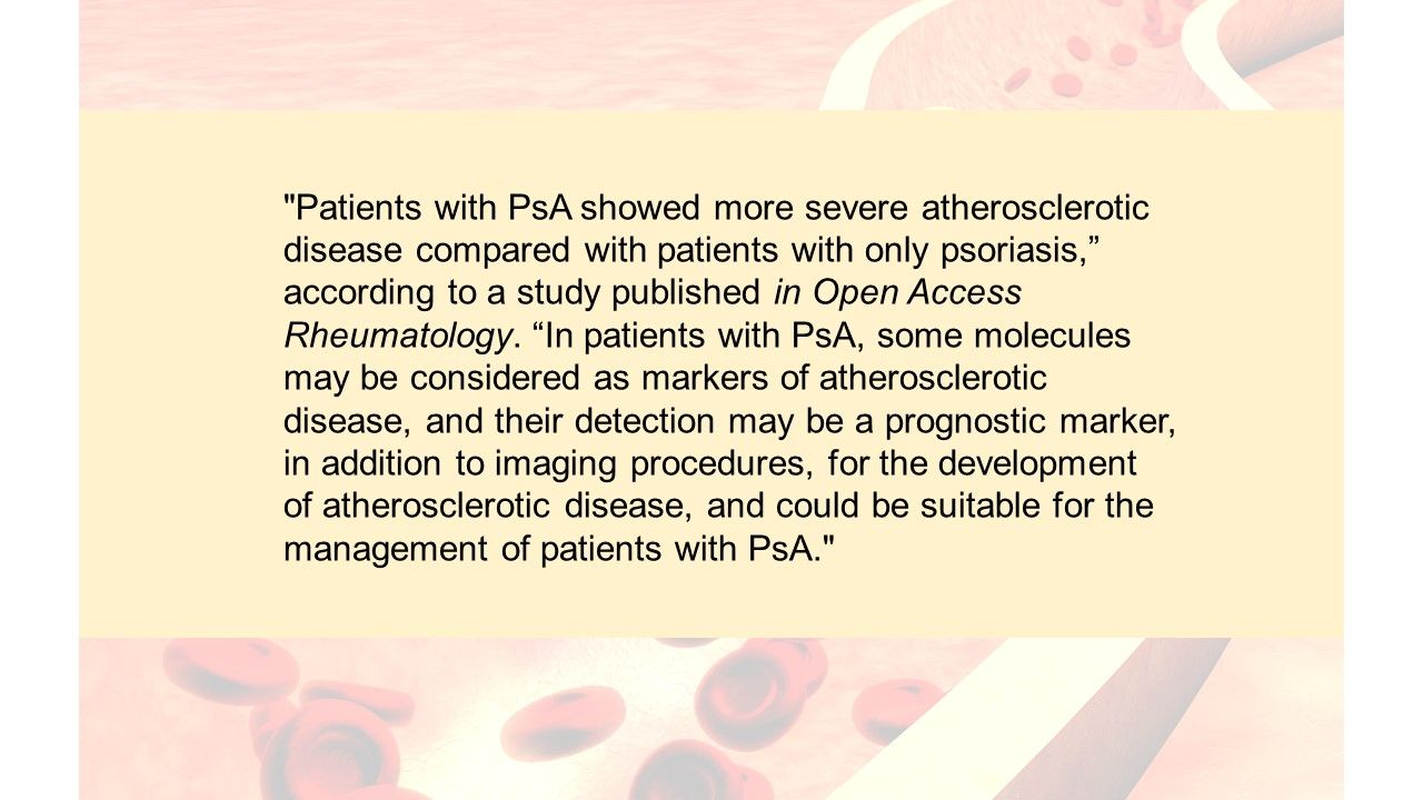 Does PsA aggravate atherosclerotic disease?