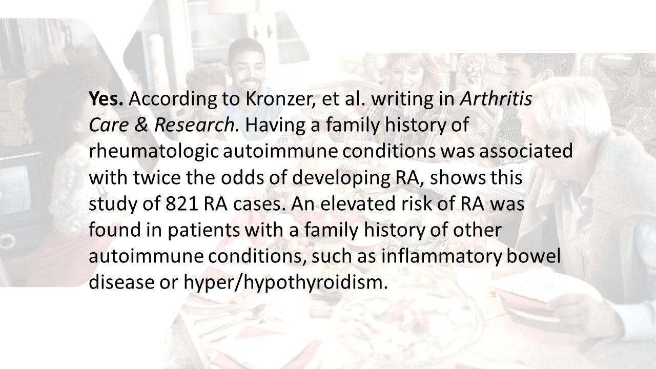 Rheumatoid Arthritis Quiz: Does Family History Predict RA Risk?