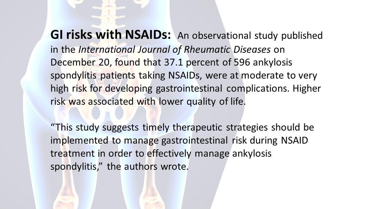 Spondyloarthritis News Roundup