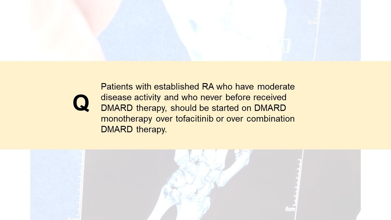 RA Clinical Quiz:  Should therapy be tapered?