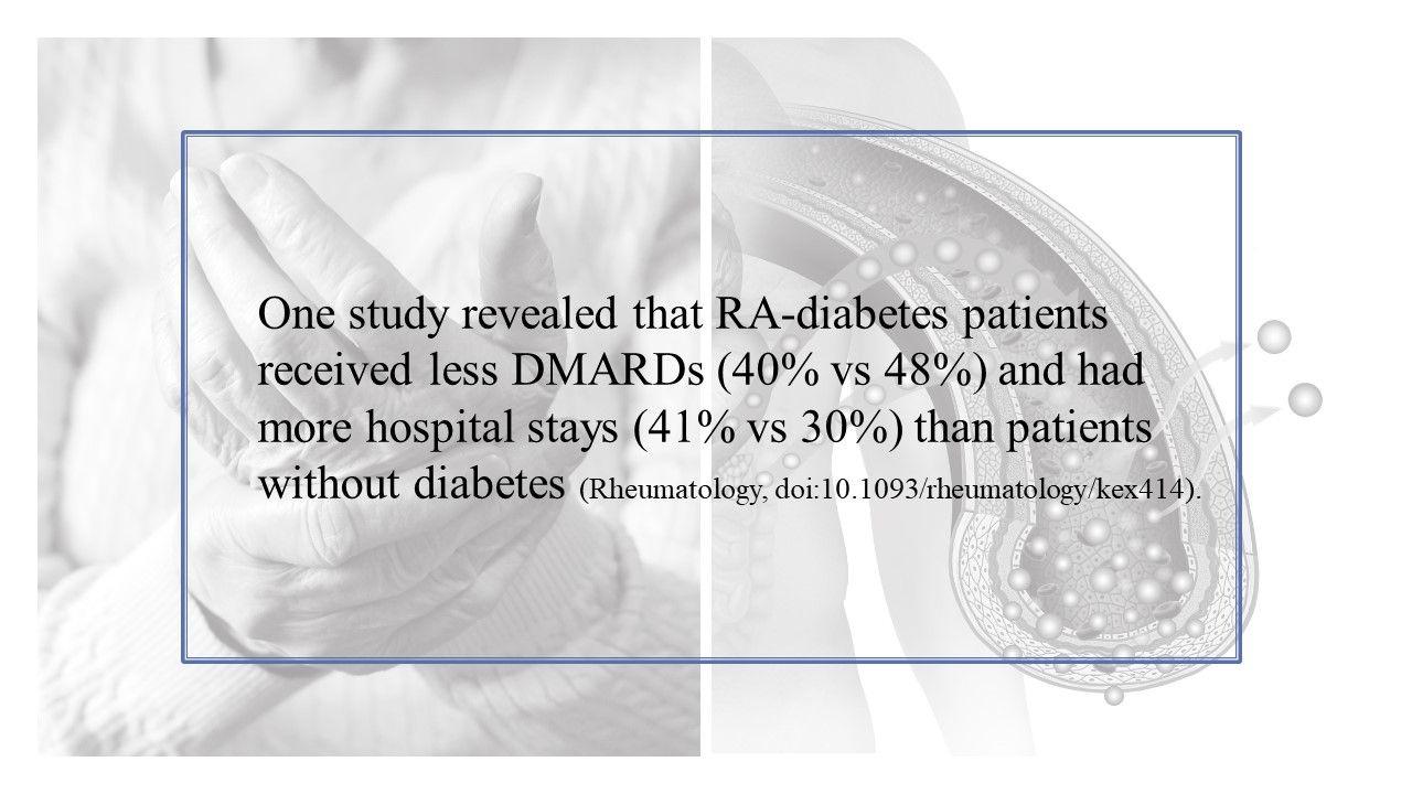 Diabetes and RA:  Explaining the Similarities