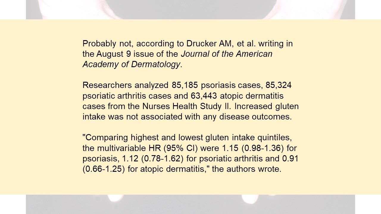 PsA Quiz: Is there a link between gluten containing food products and arthritic