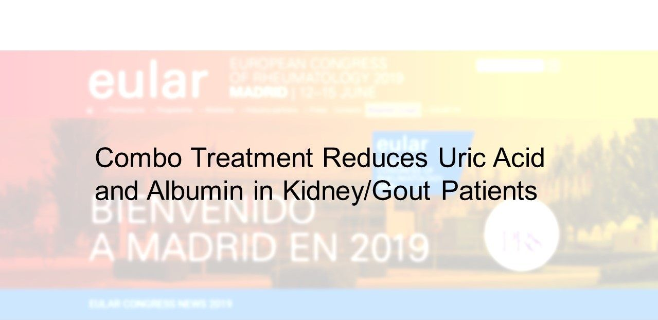 Combo Treatment Reduces Uric Acid  and Albumin in Kidney/Gout Patients