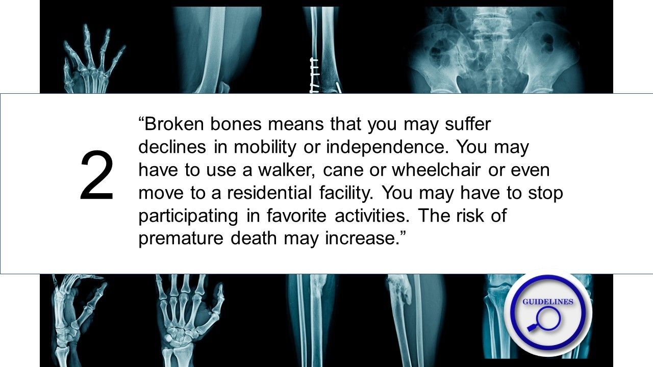 Treatment guidelines for fracture risk in elderly