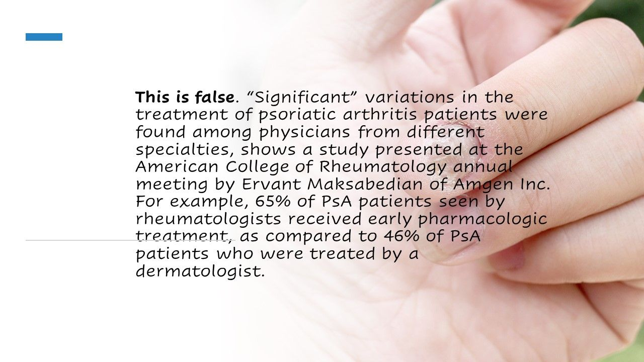 Who prescribes more treatments for PsA? Rheumatologists or dermatologists?