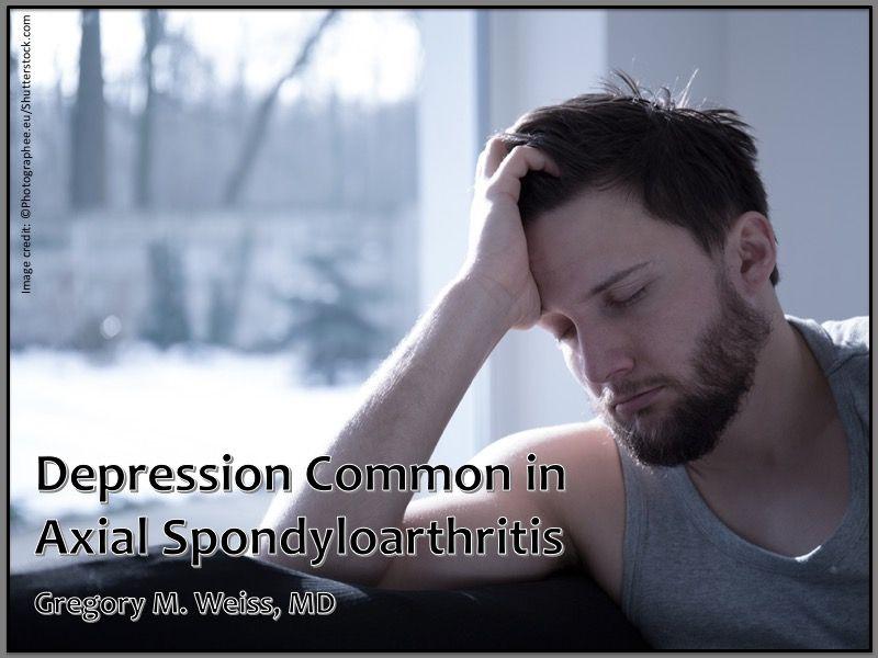 handsome young man depression axial spondyloarthritis ankylosing spondylitis