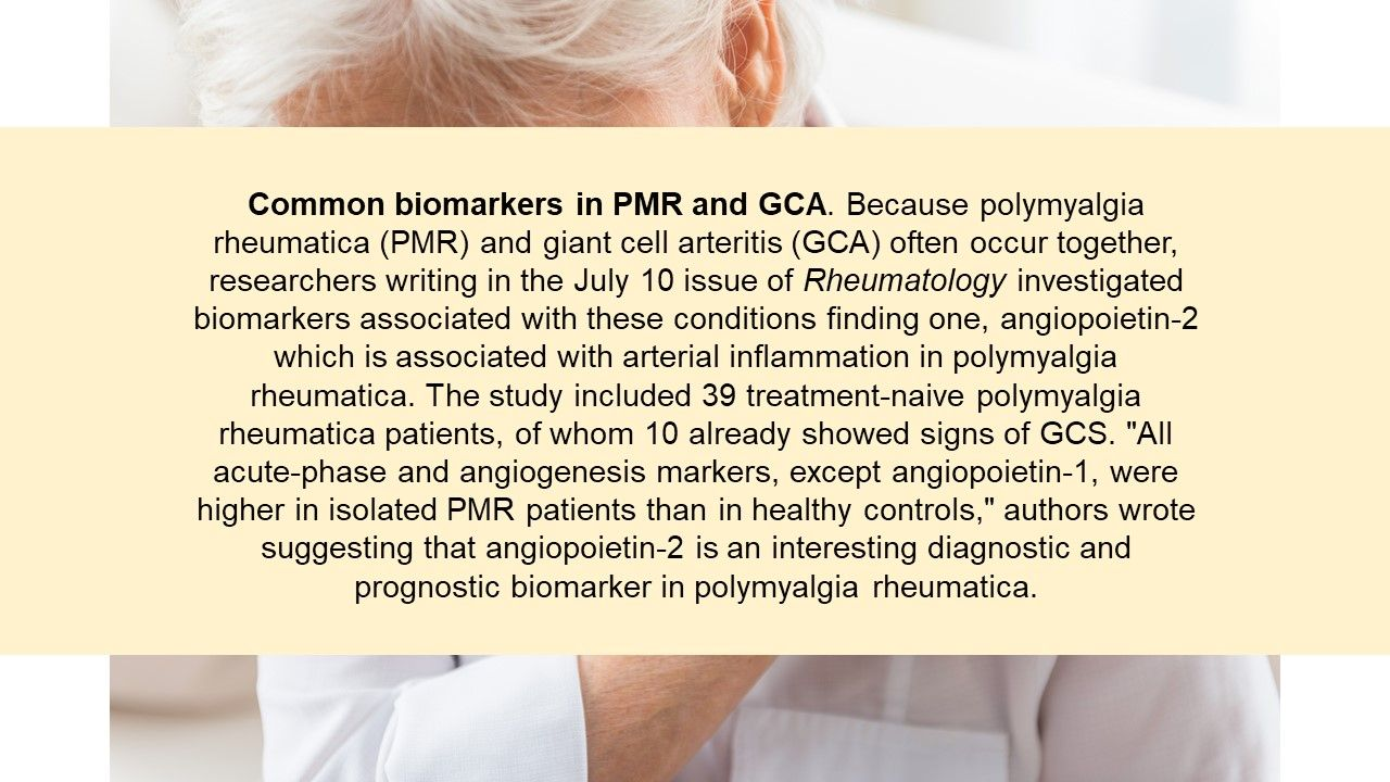 Common biomarkers in PMR and GCA