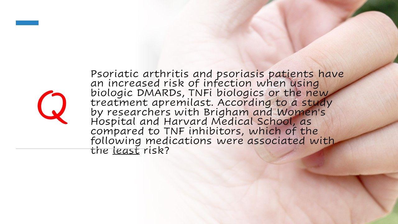 DMARD use in psoriatic arthritis
