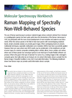 Raman Mapping of Spectrally Non-Well-Behaved Species