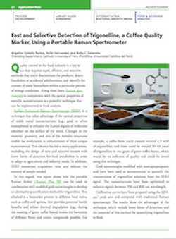 Fast and Selective Detection of Trigonelline, a Coffee Quality Marker, Using a Portable Raman Spectrometer