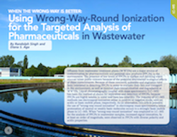 When the Wrong Way is Better: Using Wrong-Way-Round Ionization for the Targeted Analysis of Pharmaceuticals in Wastewater