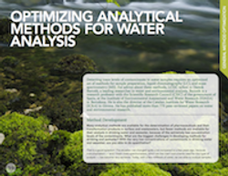 Optimizing Analytical Methods for Water Analysis