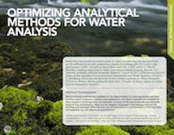 Optimizing Analytical Methods for Water Analysis