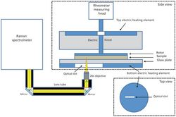 Monitoring Polymer Phase Transitions by Combining Rheology and Raman Spectroscopy