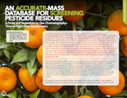 An Accurate-Mass Database for Screening Pesticide Residues in Fruits and Vegetables by Gas Chromatography–Time-of-Flight Mass Spectrometry