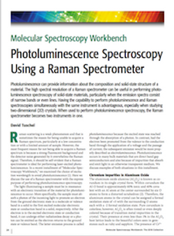Photoluminescence Spectroscopy Using a Raman Spectrometer