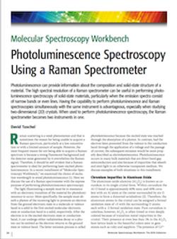 Photoluminescence Spectroscopy Using a Raman Spectrometer