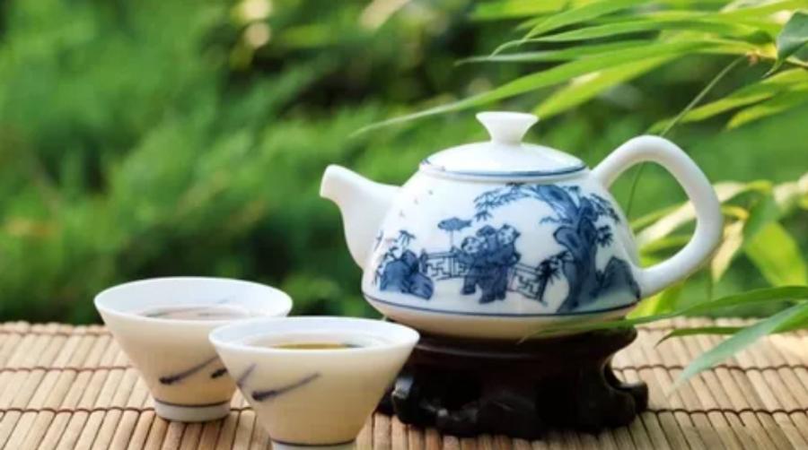 A Chinese tea set