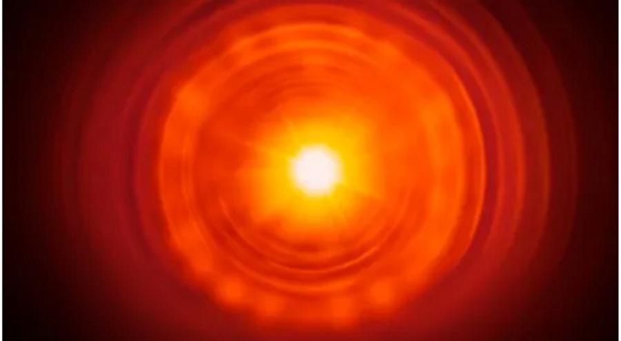 fiery ball of molten metal
