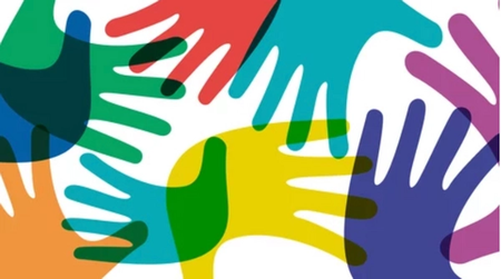 Colorful Hands interlinking