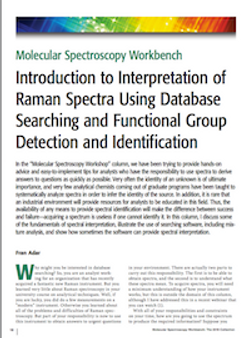 Introduction to Interpretation of Raman Spectra Using Database Searching and Functional Group Detection and Identification