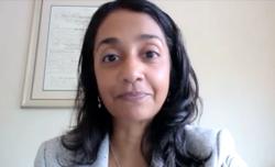 Dr. Veda N. Giri discusses virtual genetics board