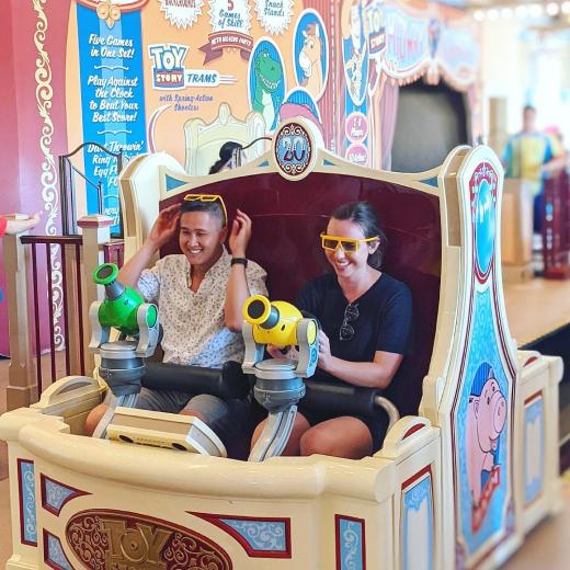 Nate and Alyssa at Disneyland 2021