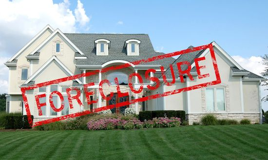 Foreclosed house.