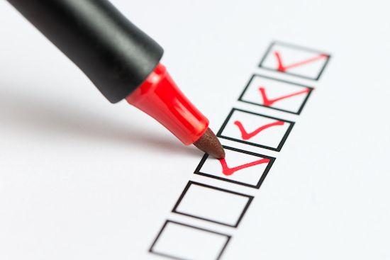 VA home loan checklist.