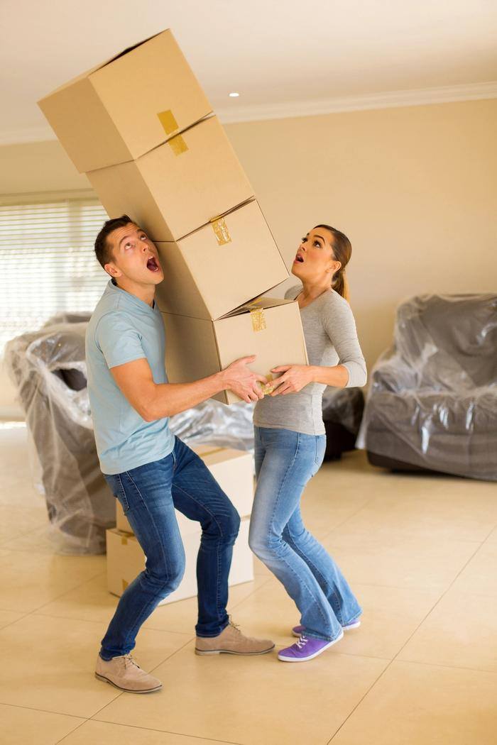 New homebuyers moving into their home