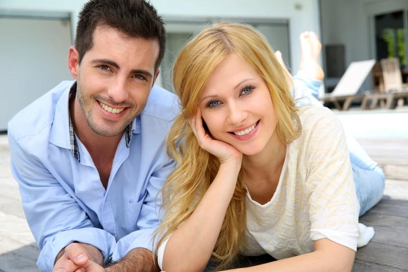 Young couple thinking of buying a home