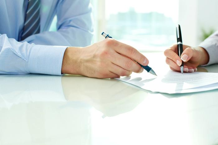 Signing document for VA Loan application