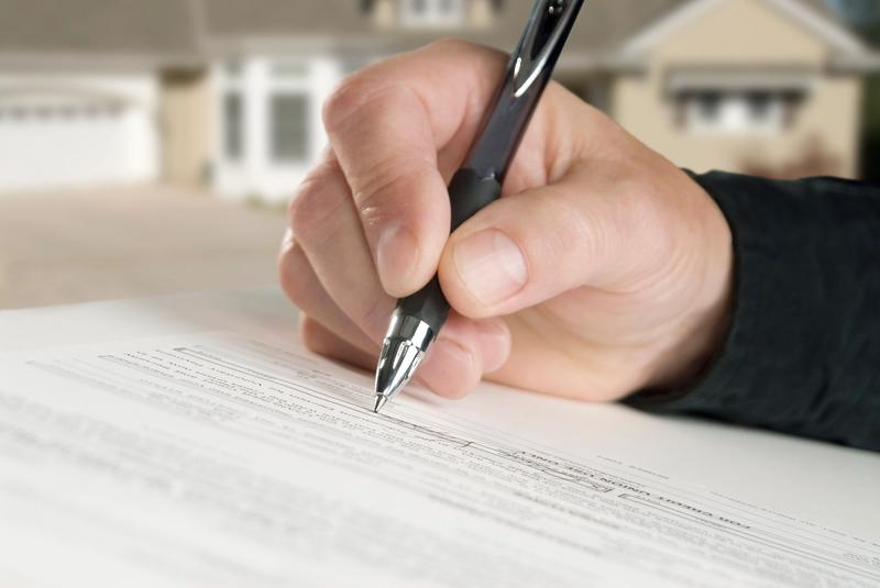 Signing title insurance document