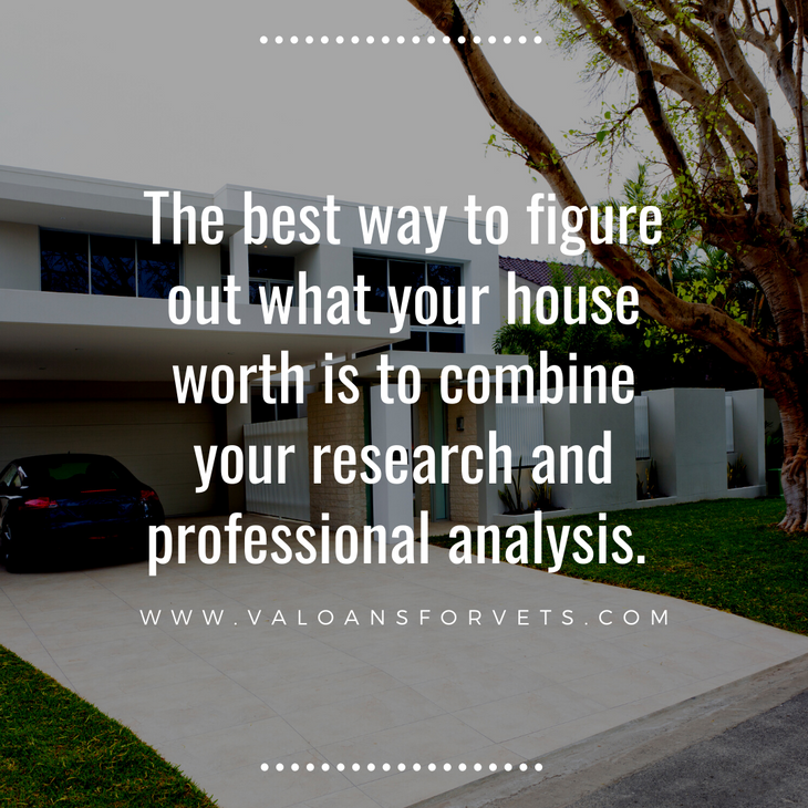The best way to figure out what your house worth is to combine your research and professional analysis.