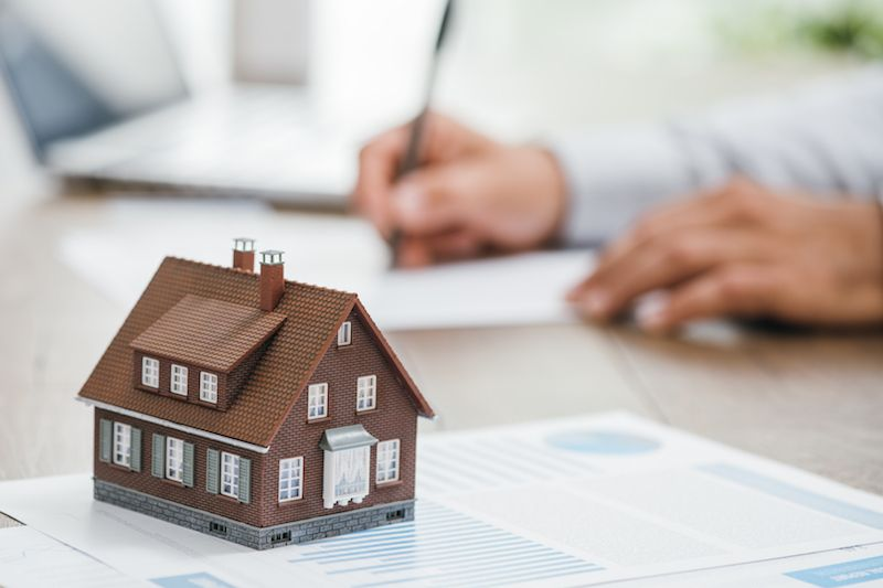 House model placed in VA loan documents.