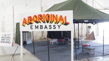 Aboriginal Embassy Tent at the Jakarta Biennale