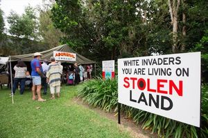 Aboriginal Embassy Tent at the Cairns Indigenous Art Fair