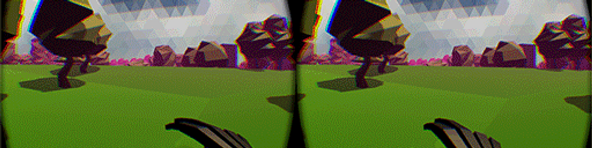 Picture of the dream world in game Blink through the occulus rift.