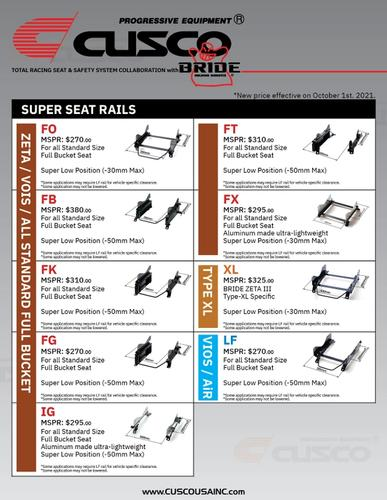 2022 CUSCO x BRIDE Sports Seat Catalog-5
