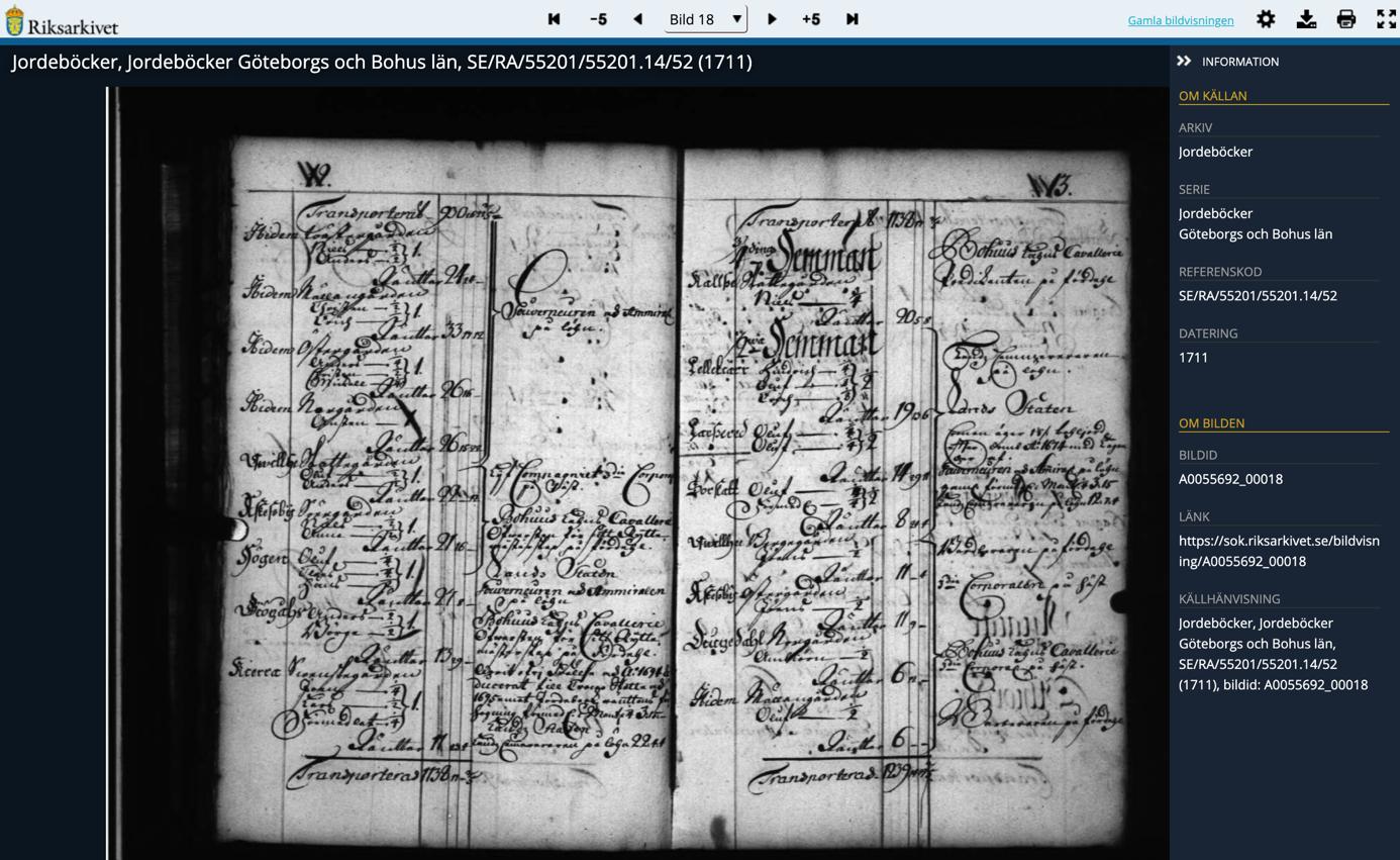 Photo of old registry ledger