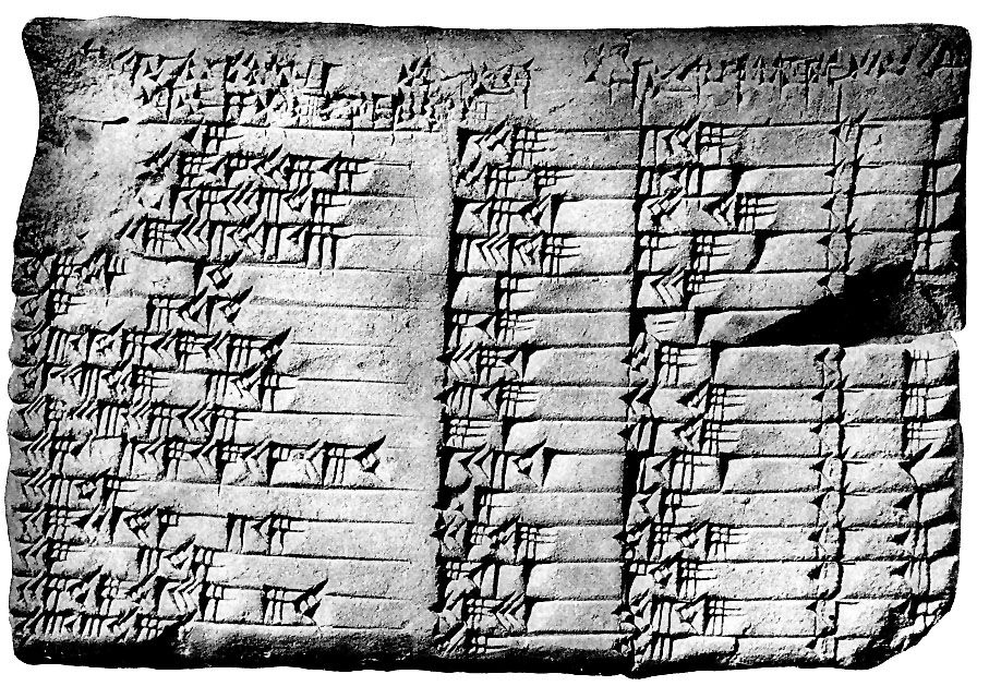 Photo of Babylonian clay tablet