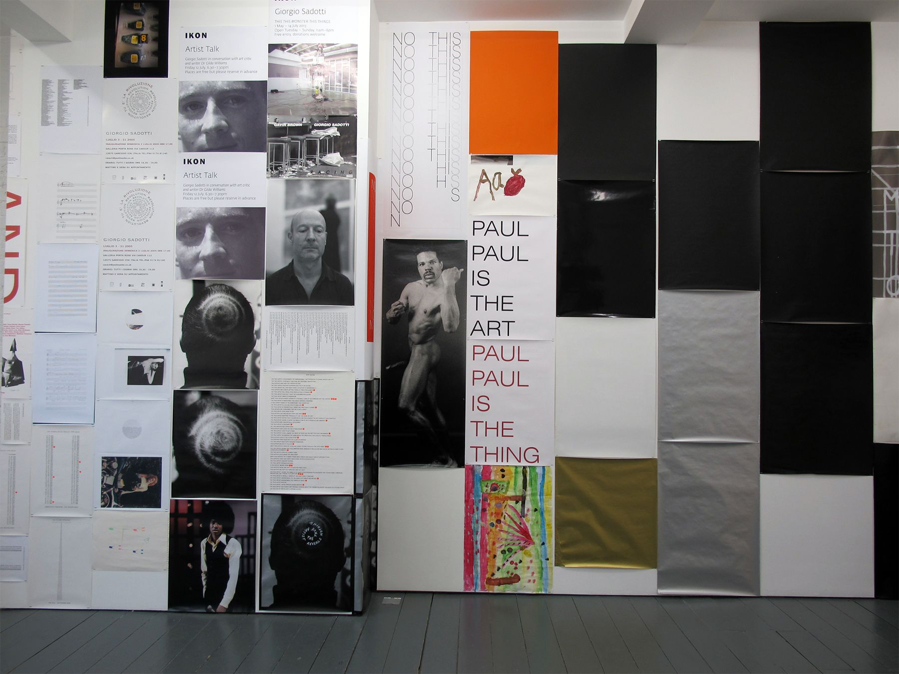 Installation view, Giorgio Sadotti, Muddy Waters, Muddy Water, Mud Water, Mud (Unroll)