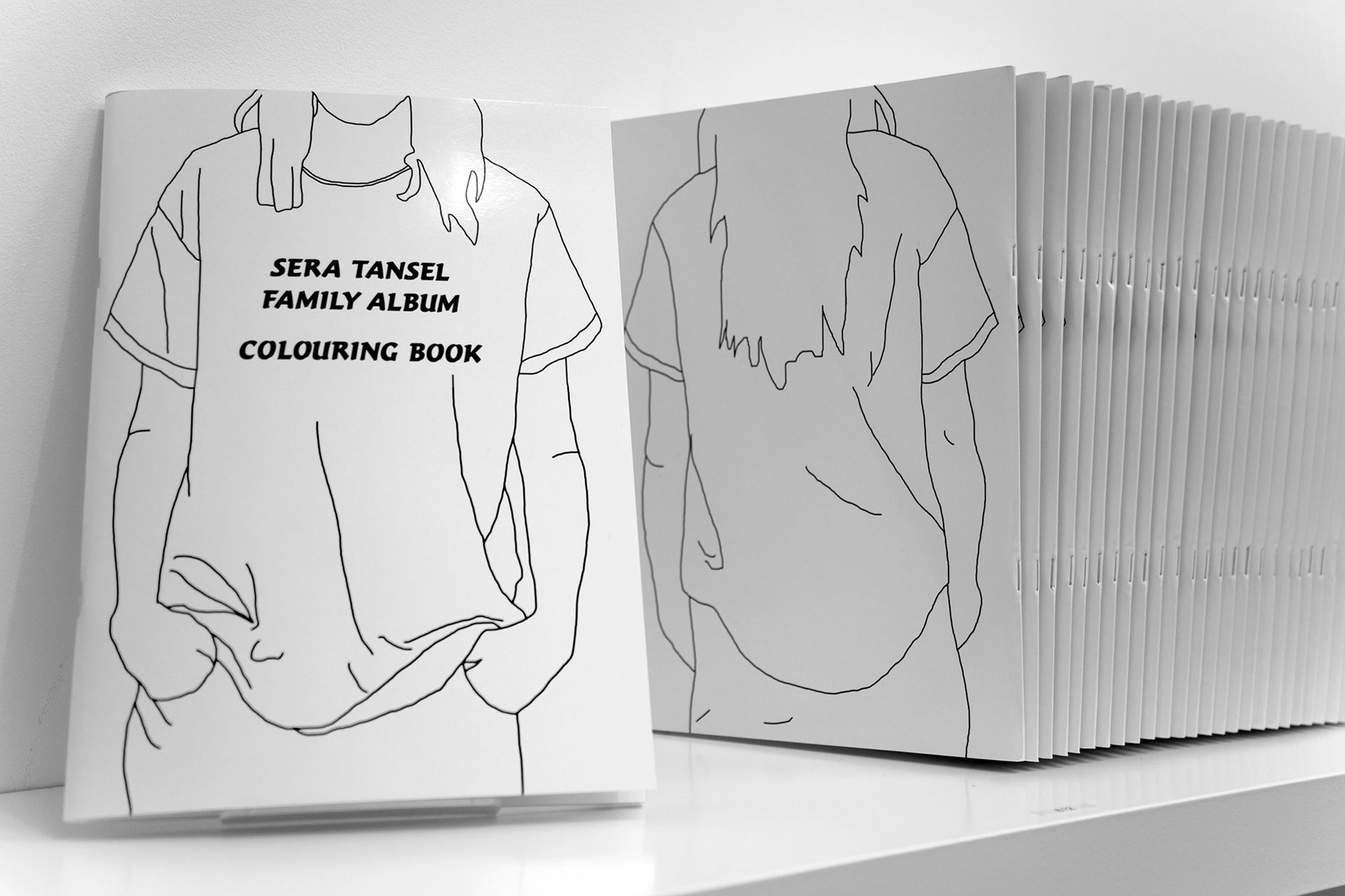 Cover, Sera Tansel Family Album Colouring Book