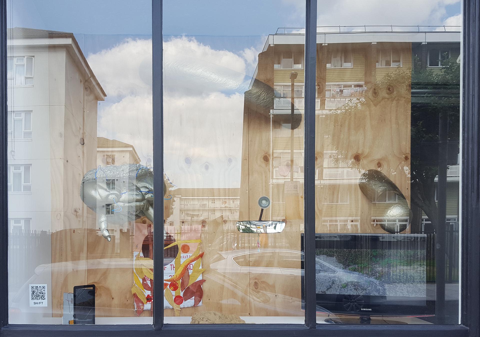 Haffendi Anuar/ Veronika Neukirch, Davinia-Ann Robinson, Elisabeth Molin, Serra Tansel, SH/FT installation view, 2021