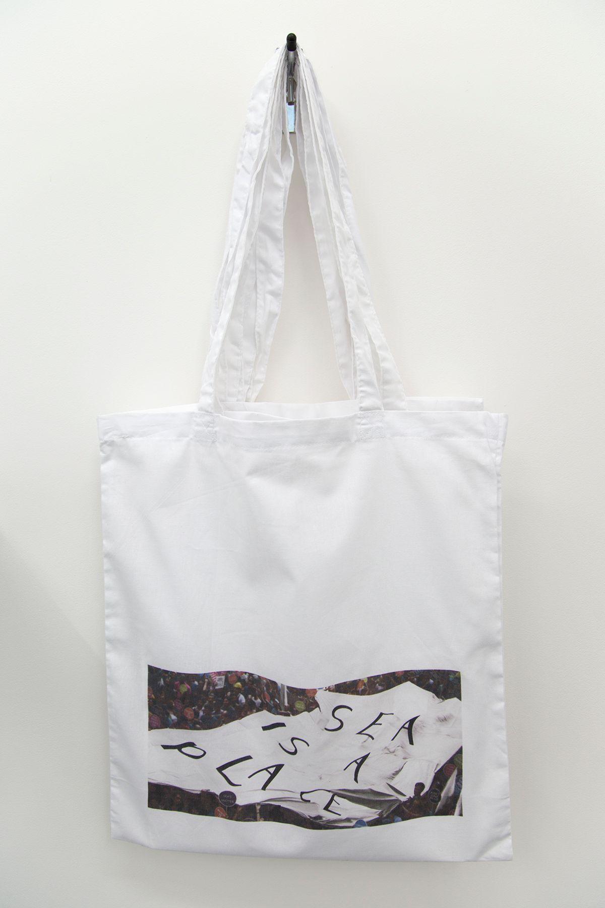 SEA IS A PLACE Sera Tansel Protest Tote Bag