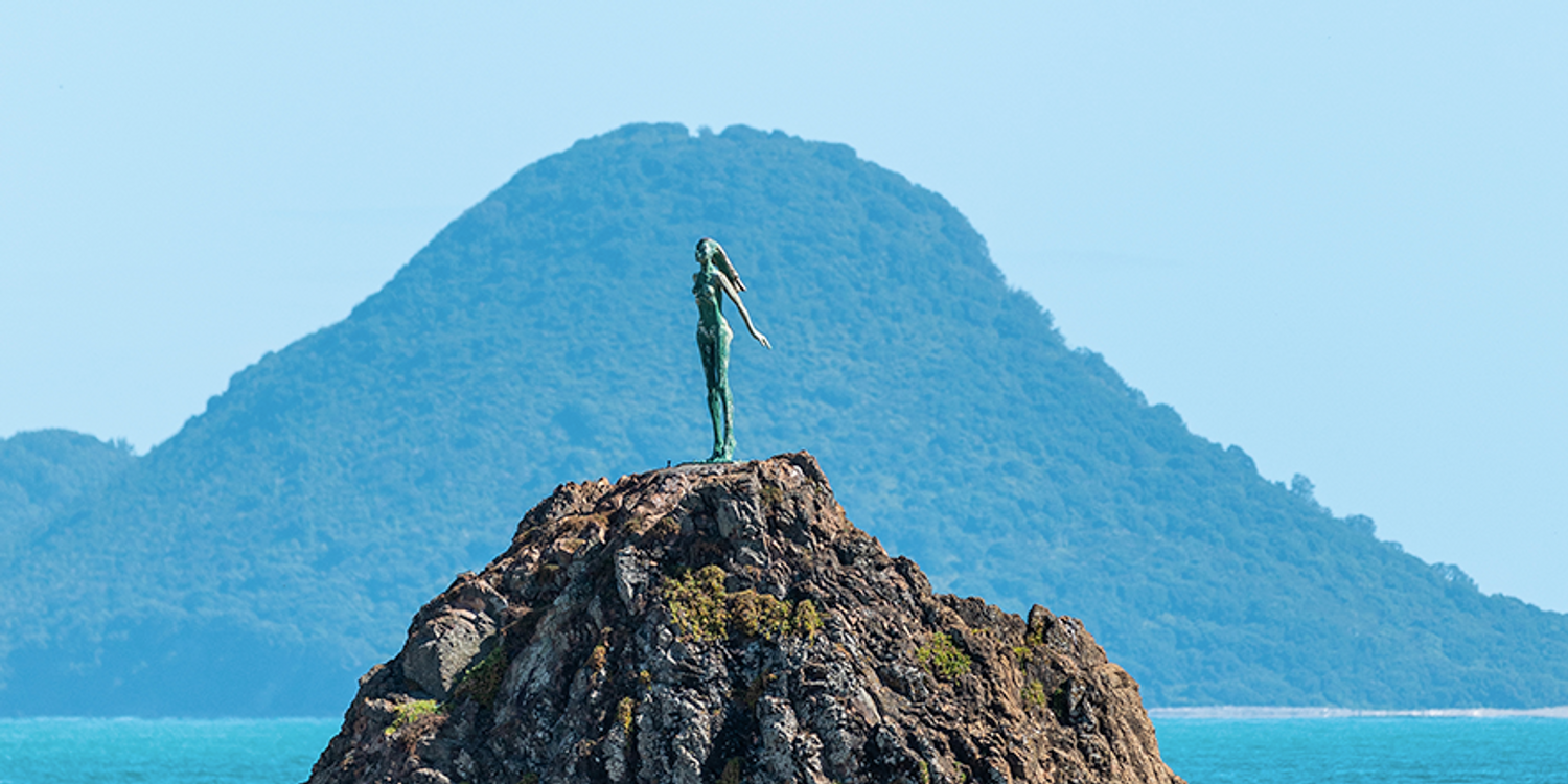 The Lady on the Rock at Whakatāne Heads