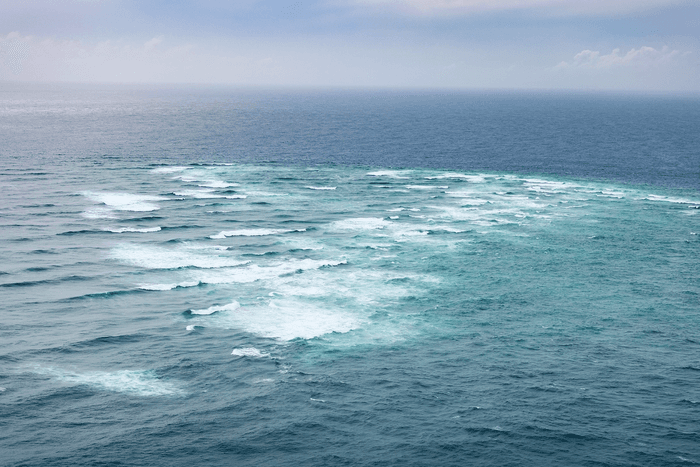 The view of the ocean from Cape Reinga