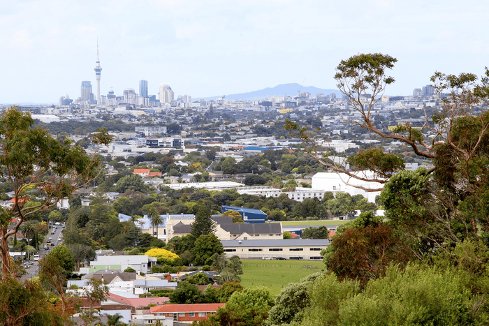 View of Auckland City from Mount Albert