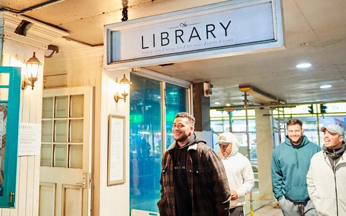 The Entrance to the Library bar in Wellington